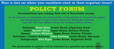 Policy Forum for State Election