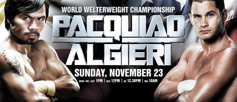 Boxing: Pacquiao vs Algieri On Screen