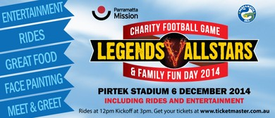 Charity Football Game Legends Vs Allstars