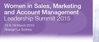 Women in Sales, Marketing and Account Management Leadership