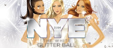 NYE 2014 Hedkandi White Glitter Ball
