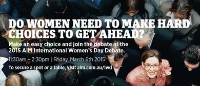 The AIM International Women's Day Debate