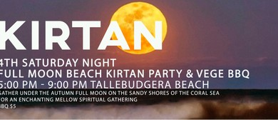 Full Moon Beach Kirtan Party & Vege BBQ