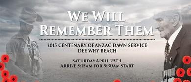 Dee Why RSL Centenary Of ANZAC Dawn Service