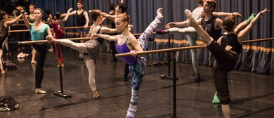 Dancers' Class On Stage