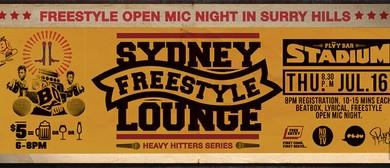Sydney Freestyle Lounge - Open Mic Night