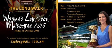 The Long Walk Women's Luncheon Melbourne 2015