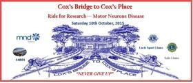Cox's Bridge to Cox's Place - Ride for Research - MND