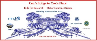 Cox's Bridge to Cox's Place - Ride for Research - MND