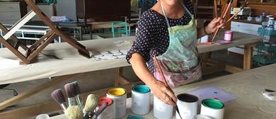 Mezzie + Frank Chalk Paint Effects Painting Workshop