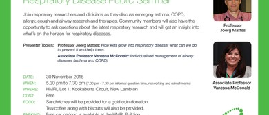 HMRI Respiratory Disease Public Seminar
