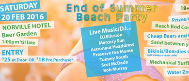 End of Summer Beach Party
