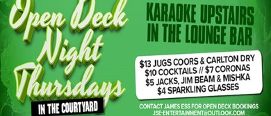 Open Deck Night Downstairs & Karaoke Upstairs