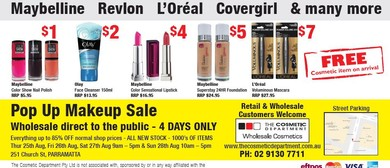 Pop Up Makeup Sale