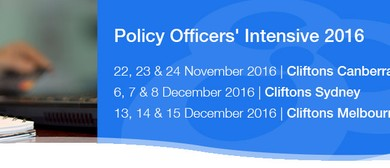 Policy Officers' Intensive 2016