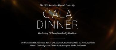 The 2016 Australian Women's Leadership Gala Dinner