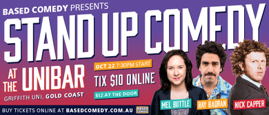 Comedy - Ray Badran, Nick Capper and Mel Buttle